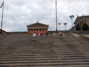 Rocky Steps at Art Museum