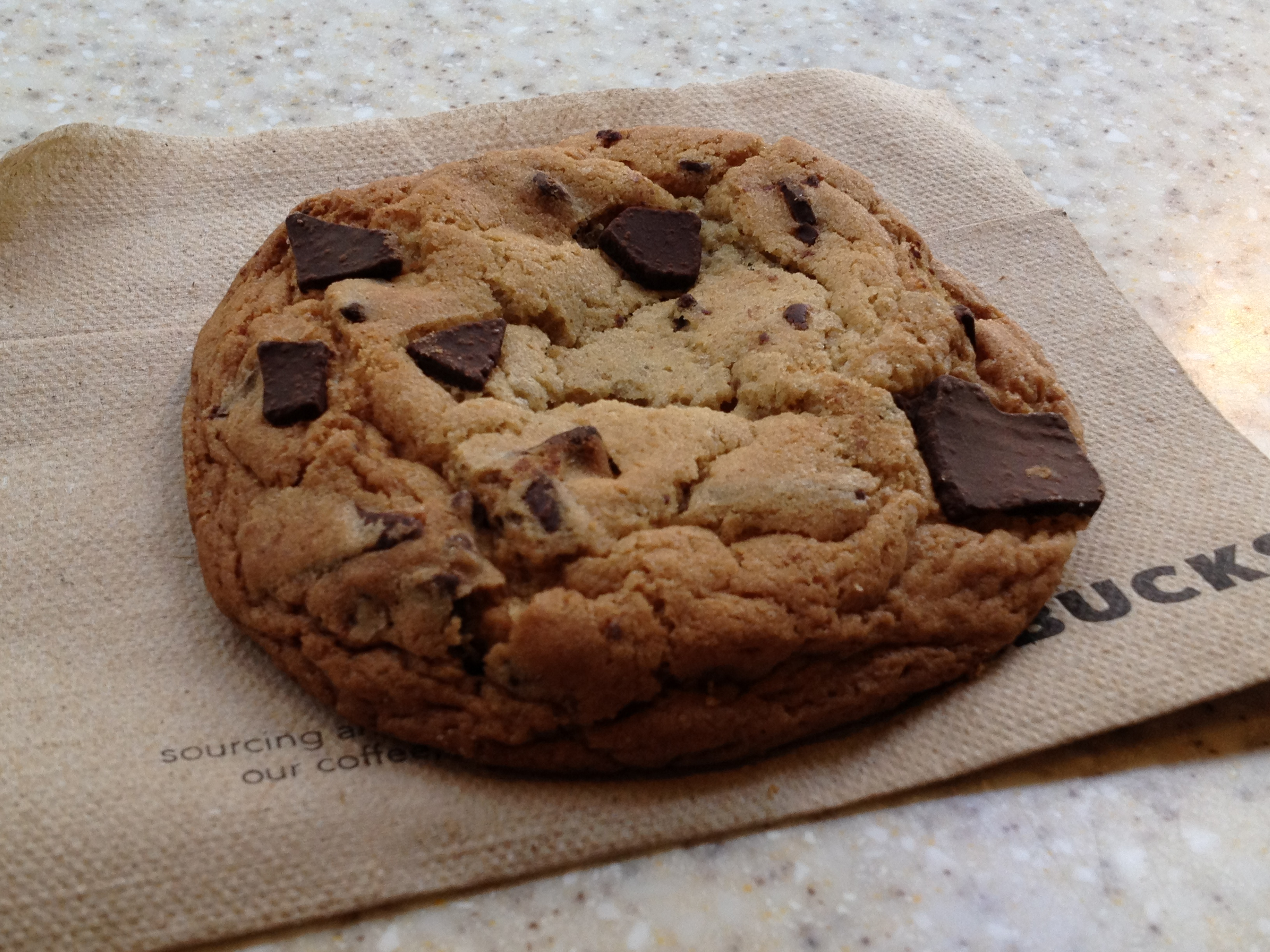 Starbucks Chocolate Chip Cookie-good warm and cold | Oh so ...