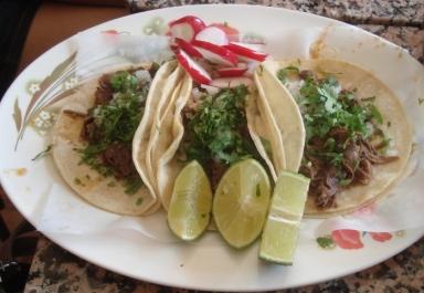 El Jarocho barbacoa tacos