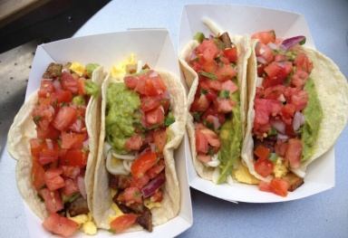 Honest Tom's breakfast tacos