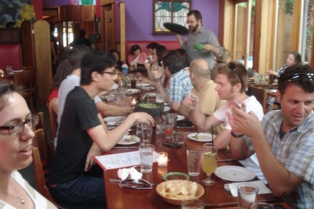 La Calaca Feliz table