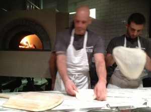 Pizzeria Vetri - Chef Vetri preparing pies