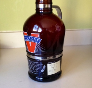 Southern Tier Pumpking in Victory growler
