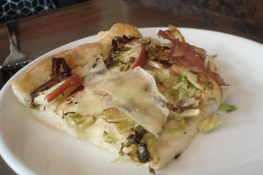 Brussels sprouts, apple and coppa al taglio slice