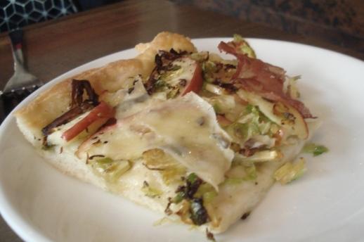 Brussels sprouts, apple and coppa al taglio slice