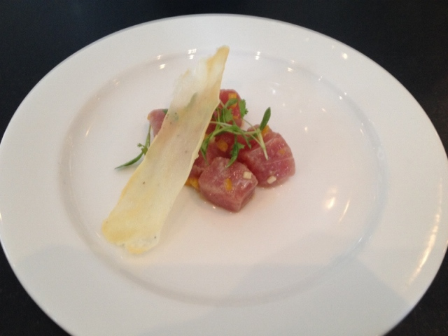 Tuna tartare from Chef Woolsey